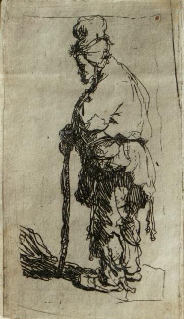 13: Rembrandt van Rijn, A Beggar Leaning on a Stick, Et