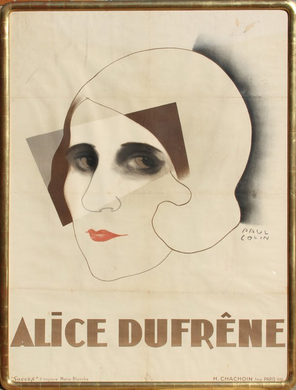 14: Paul Colin, Alice Dufrene, Lithograph Poster