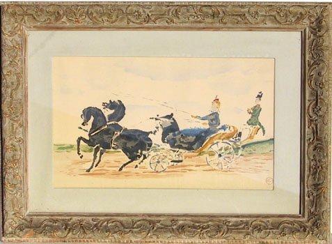 17: Henri de Toulouse-Lautrec, Horse and Carriage, Lith