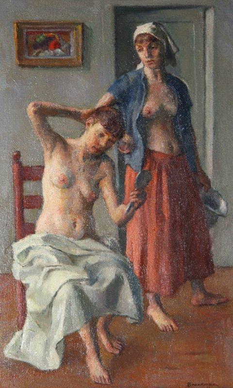 19: Robert Brackman, The Toilet, Oil Painting