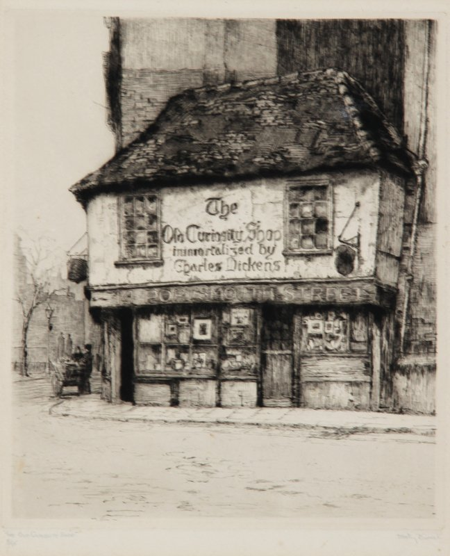 21: Dorothy Sweet, The Old Curiosity Shop, Etching