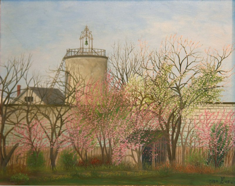 28: Jean Eve, Landscape with Farmhouse, Oil Painting
