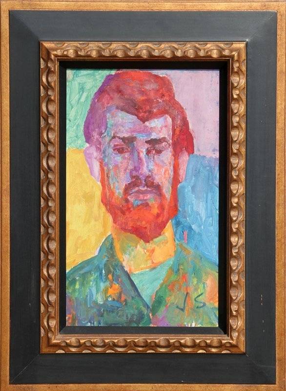 39: Joseph Solman, The Red Beard, Oil Painting