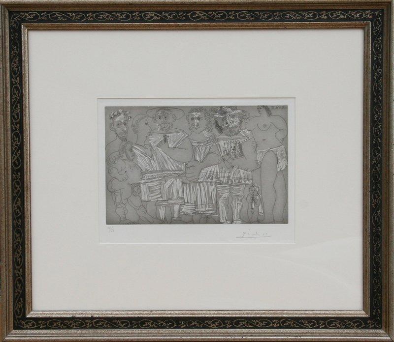 50: Pablo Picasso, Baigneuse et putto flutiste, Aquatin