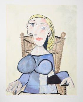 Pablo Picasso, Femme Blonde Au Fauteuil D'Osier, Li
