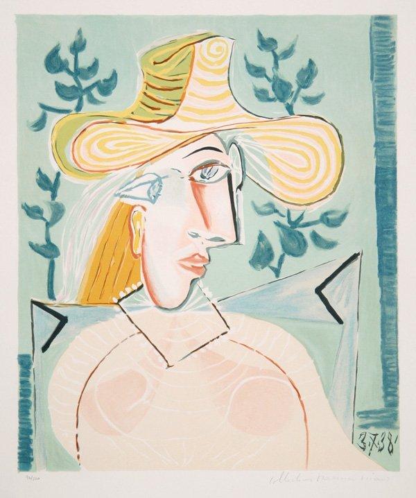 56: Pablo Picasso, Femme a la Collerette, Lithograph