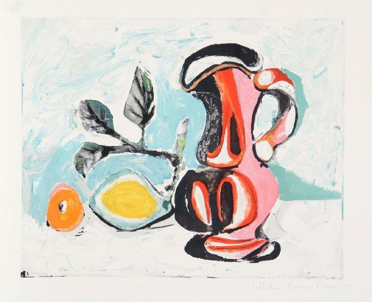 57: Pablo Picasso, Nature Morte au Pichet Rose, Lithogr