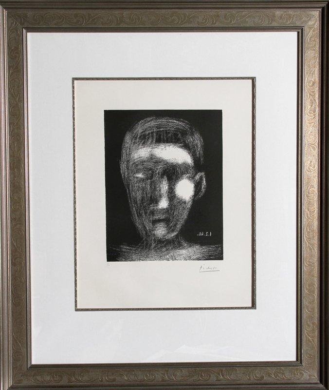 60: Pablo Picasso, Tete de Garcon (Bloch 1025), Linocut