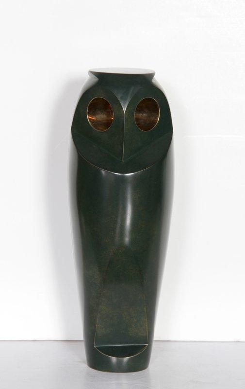 62: Constantin Antonovici, Owl, Bronze Sculpture