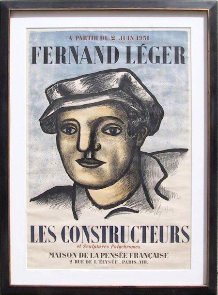 64: Fernand Leger, Les Constructeurs, Lithograph Poster