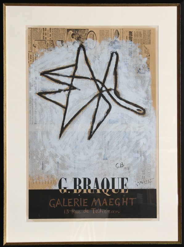 66: Georges Braque, Galerie Maeght, Lithograph