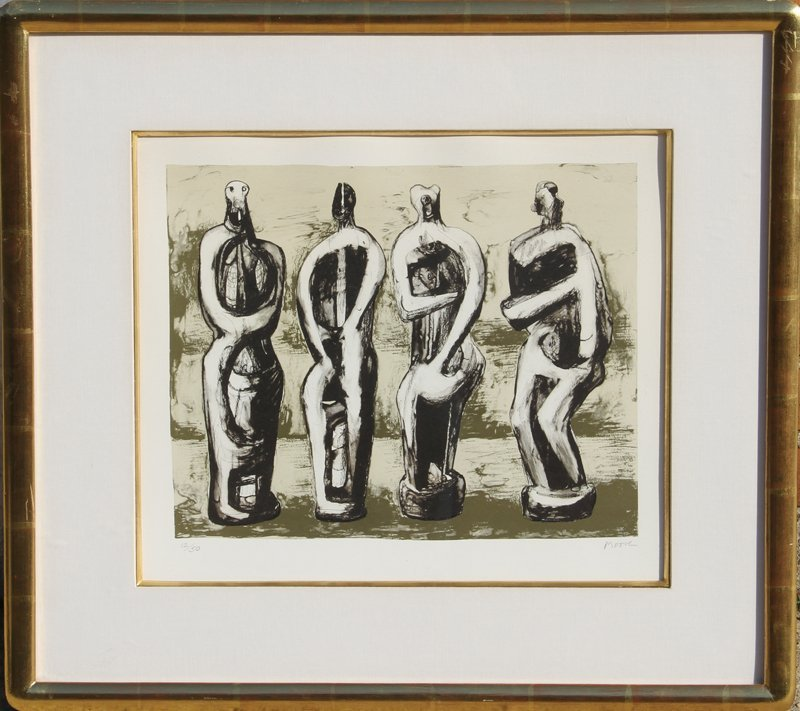 70: Henry Moore, Four Standing Figures, Lithograph