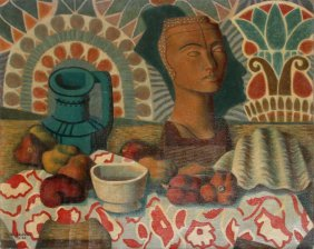 Laurent Marcel Salinas, Aztec Still Life, Oil Pain