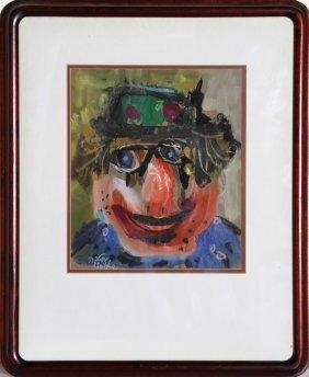 Motke Blum, Clown, Painting
