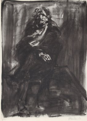 Claude Weisbuch, Seated Man, Lithograph