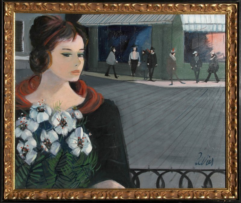 132: Charles Levier, La Rue, Oil Painting