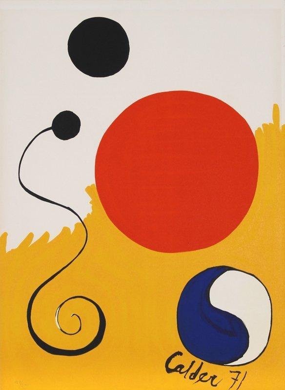 148: Alexander Calder, Abstract with Yin Yang, Lithogra
