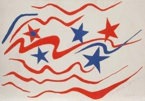 Alexander Calder, Stars And Stripes, Lithograph