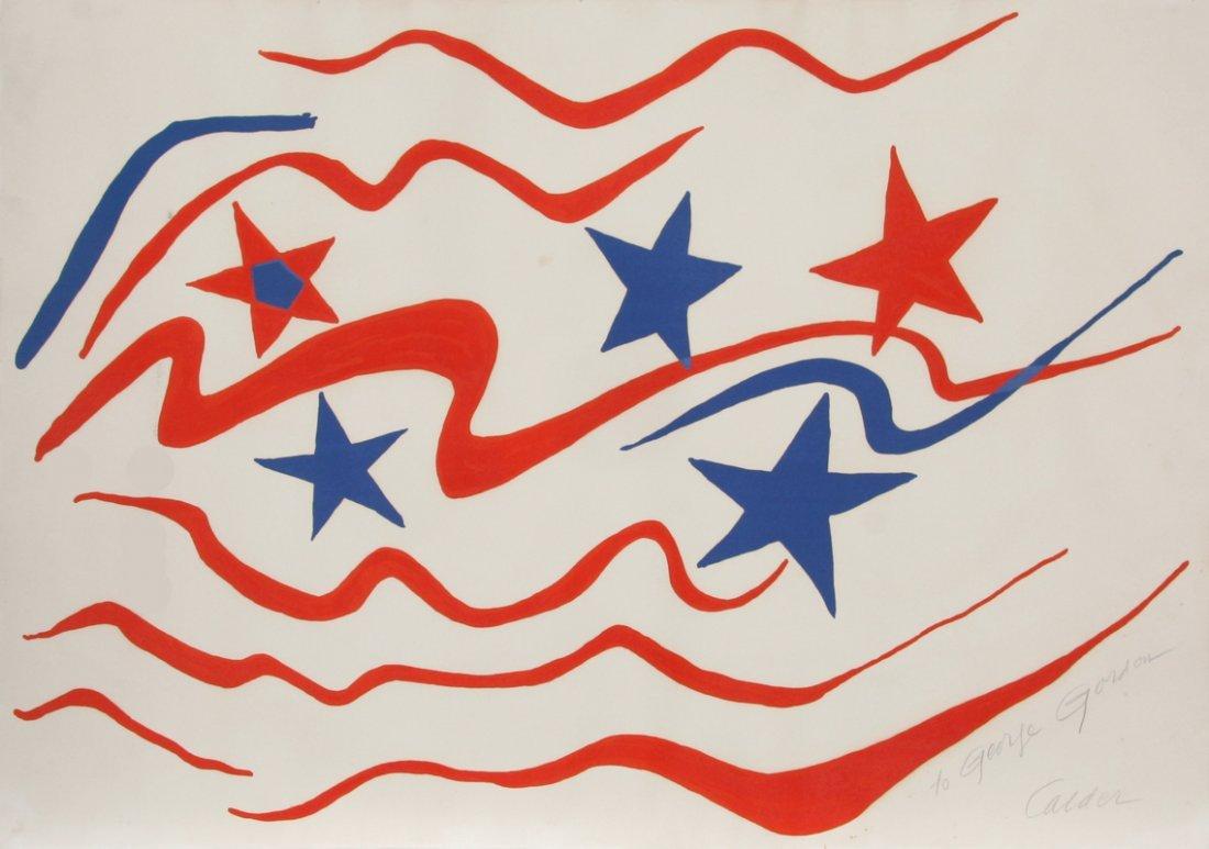 149: Alexander Calder, Stars and Stripes, Lithograph