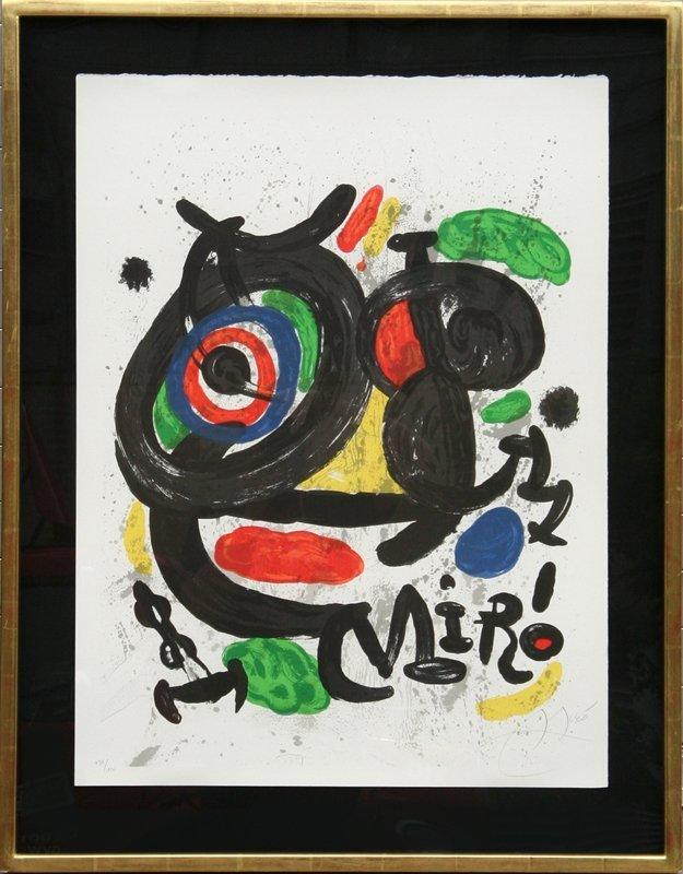 152: Joan Miro, Exhibition Sculptures, Lithograph