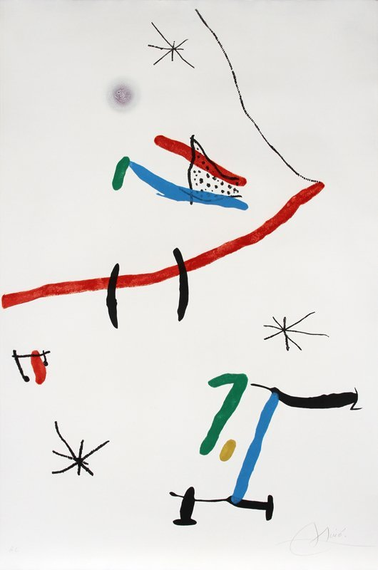 153: Joan Miro, Barcelona (603), Aquatint Etching and C