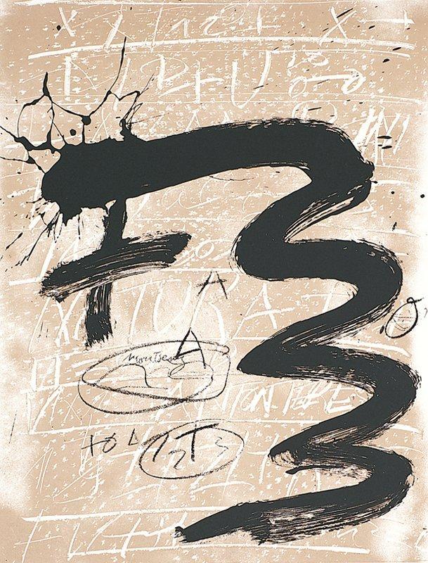 157: Antoni Tapies, untitled, Columbus Portfolio, Scree