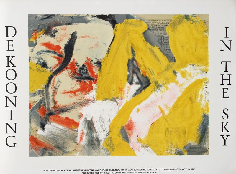 167: Willem de Kooning, In the Sky, Lithograph