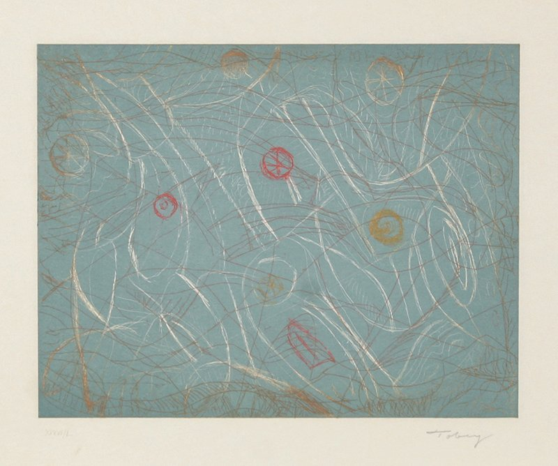 171: Mark Tobey, Paean, Etching