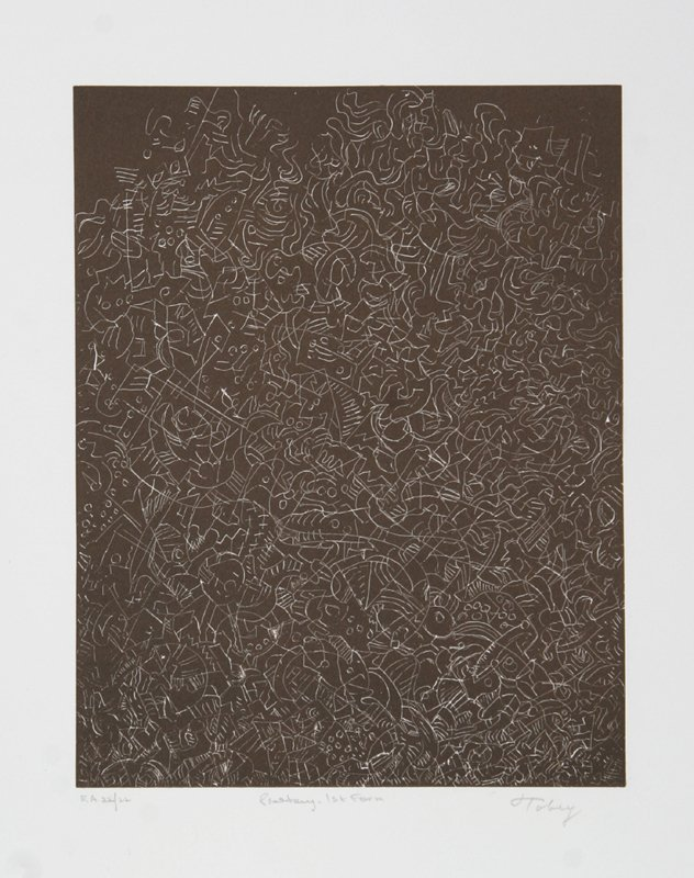 172: Mark Tobey, Psaltery, 1st Form, Etching