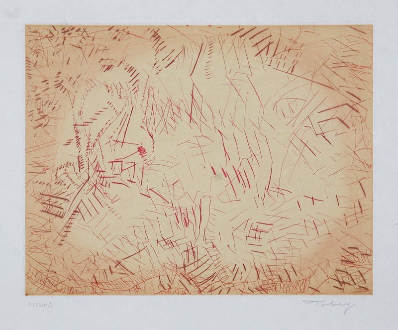 173: Mark Tobey, Harvest's Gleaning (Deluxe), Etching