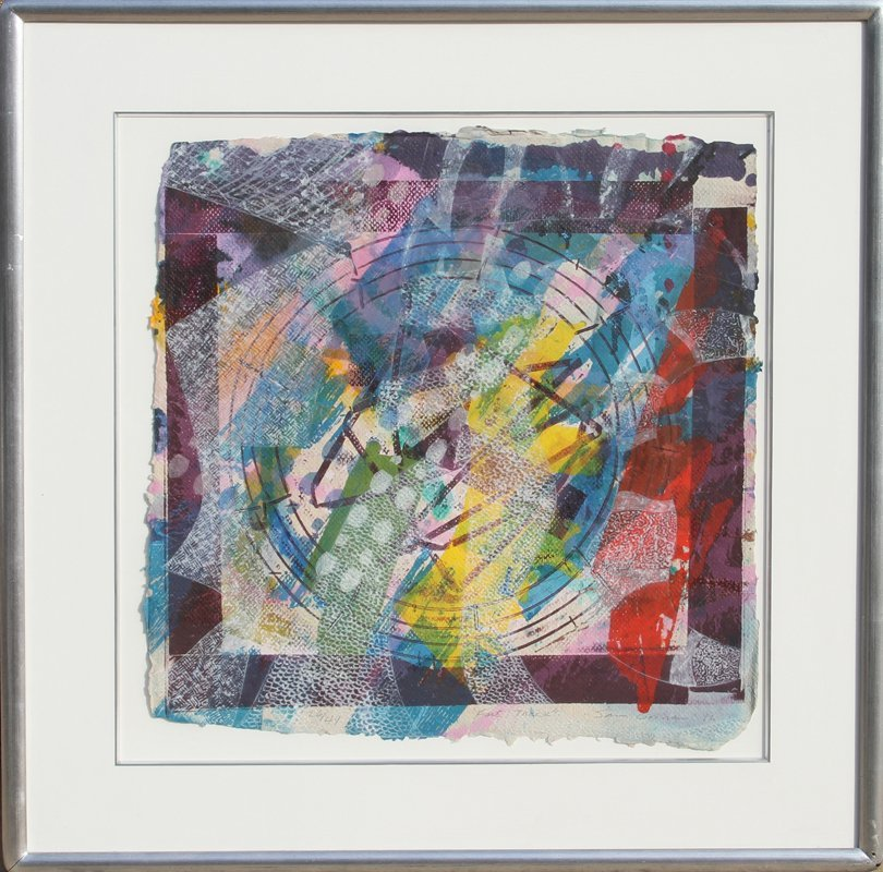 178: Sam Gilliam, Fast Track, Silkscreen and Collage