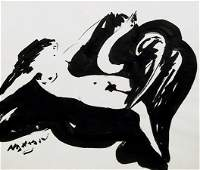 201: Reuben Nakian, Nude 1, Watercolor