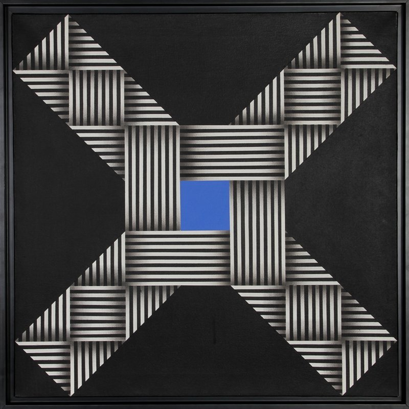 302: Omar Rayo, O.V.N.I., Oil Painting
