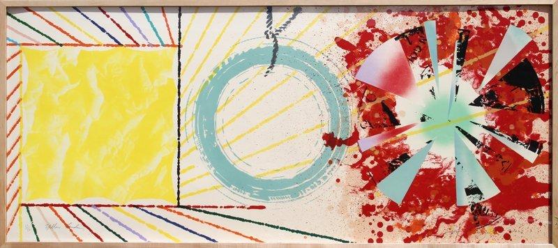 338: James Rosenquist, Yellow Landing, Lithograph Scree