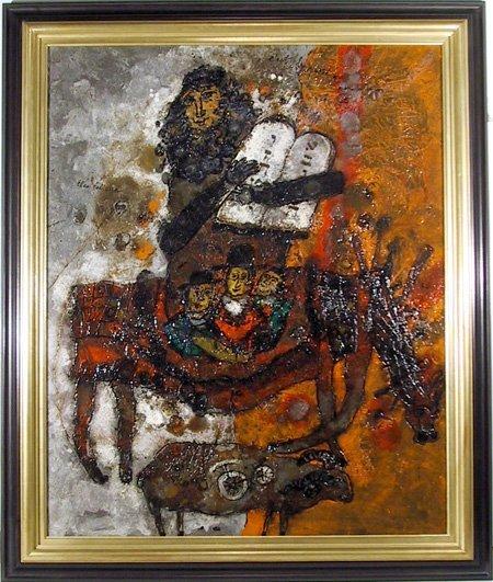 406: Theo Tobiasse, C'est le passe, Oil Painting