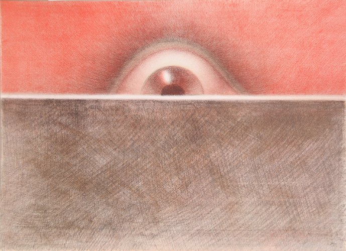 409: Rodolfo Abularach, Rising Eye, Lithograph