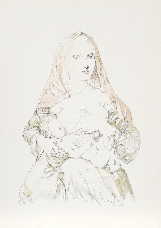 426: Tsuguharo Foujita, Nursing Mother, Lithograph