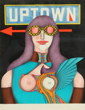 Richard Lindner, Uptown, Lithograph