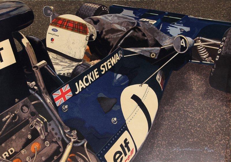 479: Ron Kleemann, Jackie Stewart, Serigraph