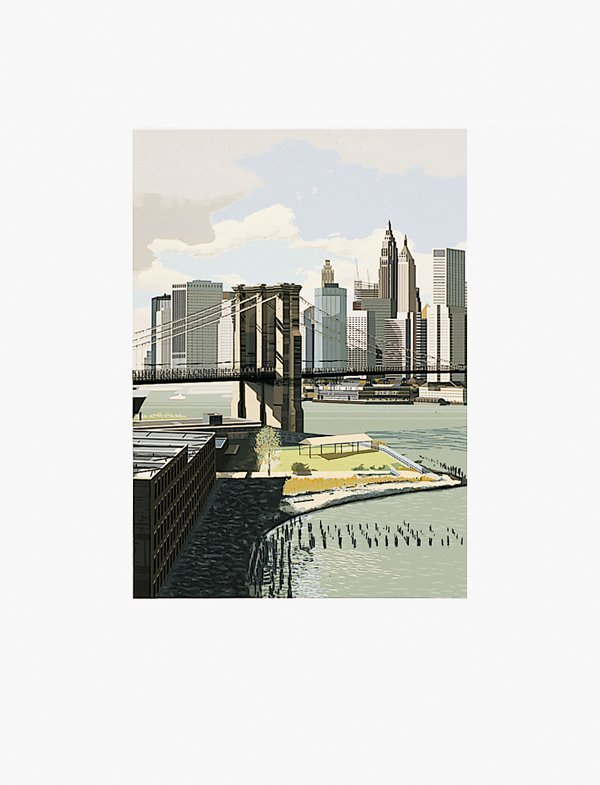 482: Richard Estes, East River from Kinderstern Portfol