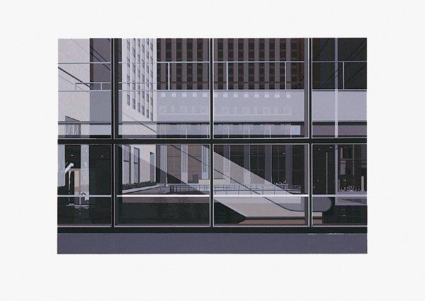 484: Richard Estes, Manhattan No. III, Screenprint