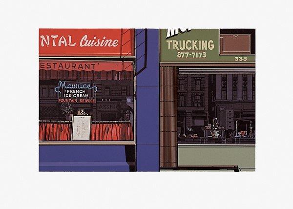 485: Richard Estes, Oriental Cuisine No. I, Screenprint