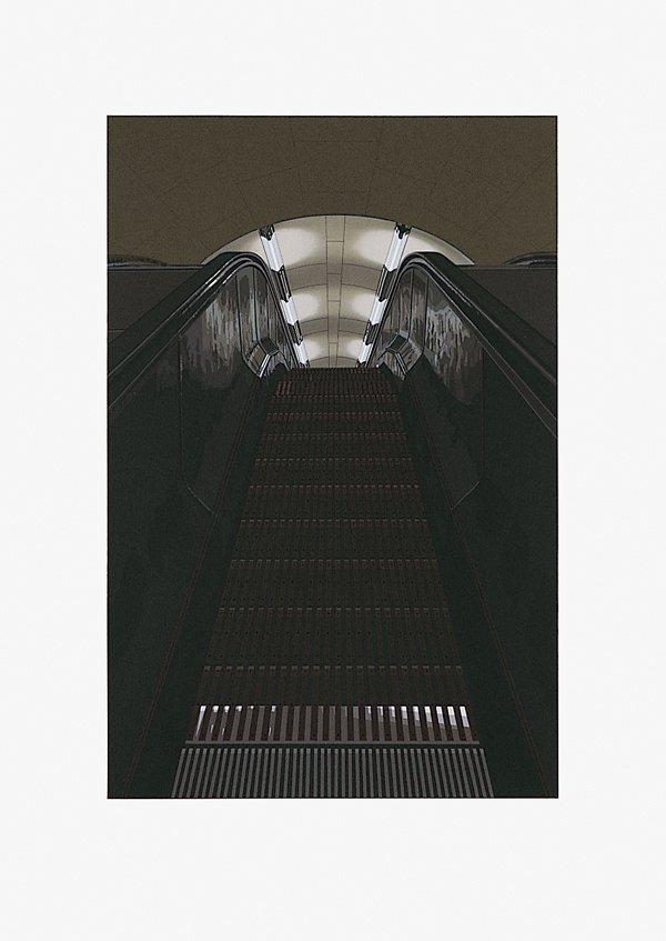 486: Richard Estes, Picadilly Station No. I, Screenprin