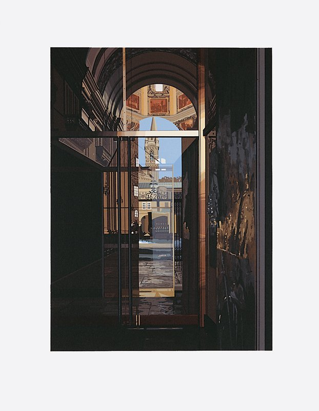 487: Richard Estes, Salzburg Cathedral, Screenprint
