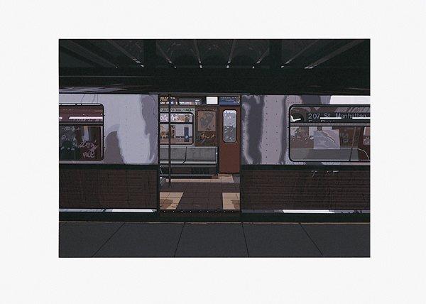 488: Richard Estes, Subway No. II, Screenprint
