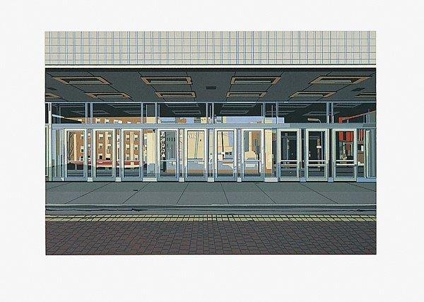 490: Richard Estes, Ten Doors No. I, Screenprint