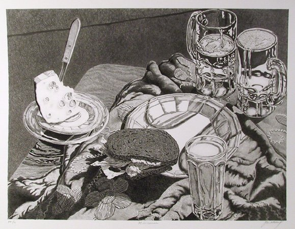 491: Jack Beal, Wisconsin, Lithograph