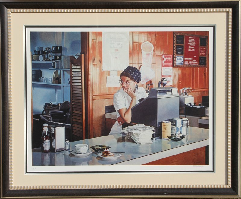 493: Ralph Goings, One Eleven Diner, Lithograph