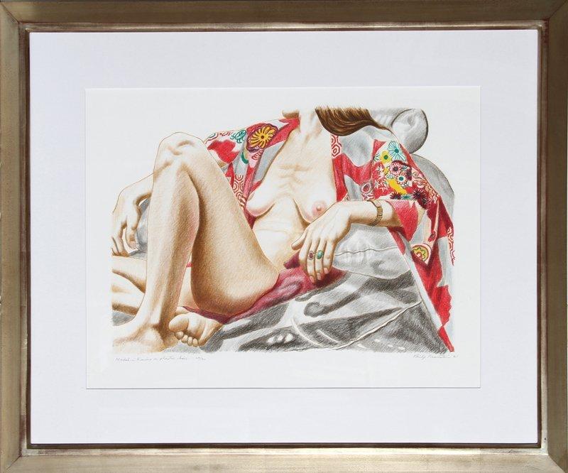 497: Philip Pearlstein, Model in Kimono on Plastic Chai