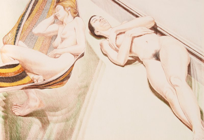 498: Philip Pearlstein, Two Sleeping Nudes, Lithograph